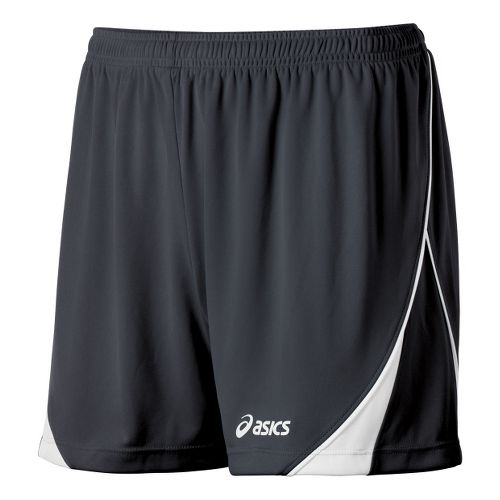 Womens ASICS TR Team Unlined Shorts - Steel/White M
