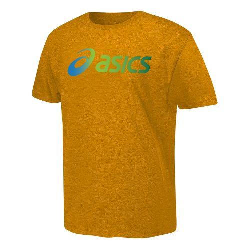 ASICS Gradient Corp T Short Sleeve Non-Technical Tops - Royal L