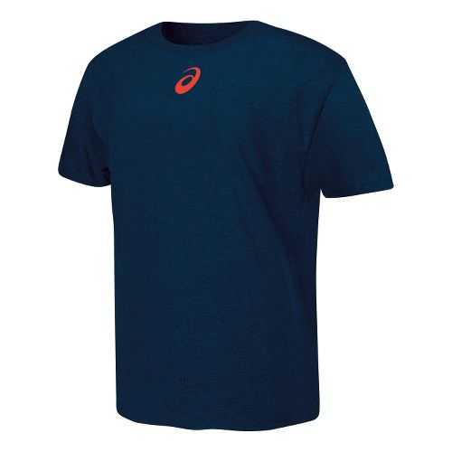 ASICS Focused Driven Victorious T Short Sleeve Non-Technical Tops - Navy M