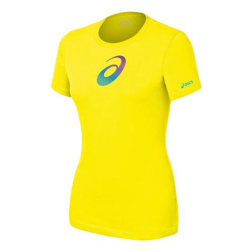 Womens ASICS Gradient Profile T Short Sleeve Non-Technical Tops - Teal XL