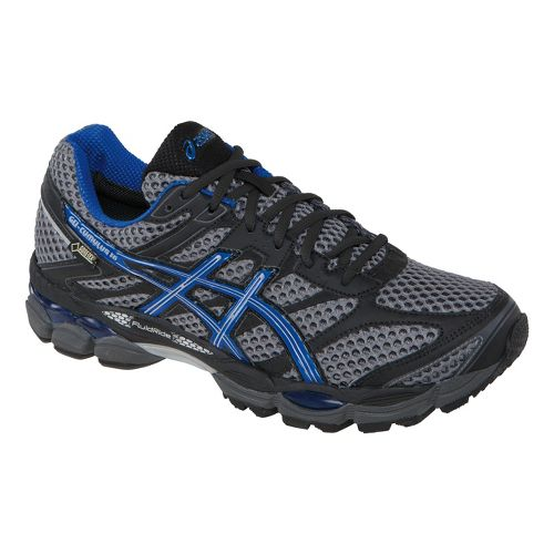 Mens ASICS GEL-Cumulus 16 G-TX Trail Running Shoe - Carbon/Royal 12.5