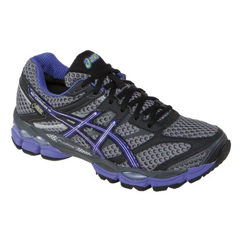 Womens ASICS GEL-Cumulus 16 G-TX Trail Running Shoe - Carbon/Purple 8.5