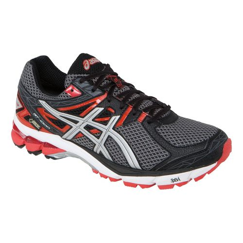 Mens ASICS GT-1000 3 G-TX Trail Running Shoe - Storm/Lightning 10