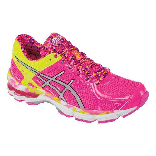 Kids ASICS GEL-Kayano 21 GS Running Shoe - Hot Pink/Lightning 3.5