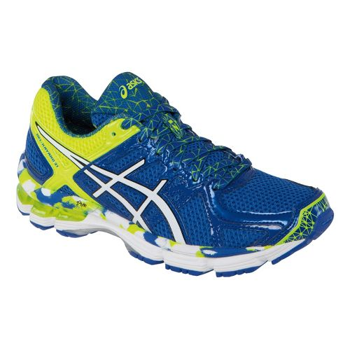 Kids ASICS GEL-Kayano 21 GS Running Shoe - Royal/White 1.5