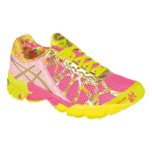 Kids ASICS GEL-Noosa Tri 9 GS GR Running Shoe - Hot Pink/Gold 5.5