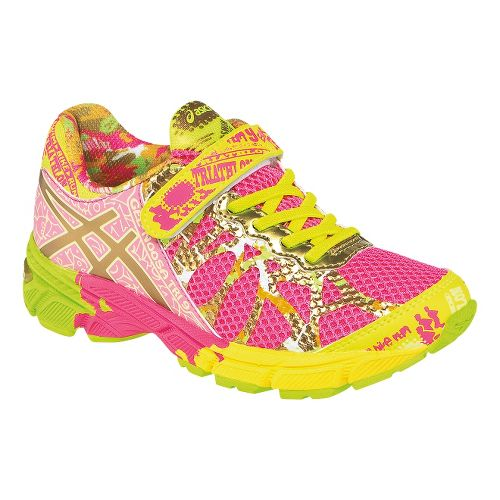 Kids ASICS GEL-Noosa Tri 9 PS GR Running Shoe - Hot Pink/Gold 2.5