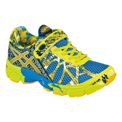 Kids ASICS GEL-Noosa Tri 9 PS GR Running Shoe - Royal/Gold 1.5