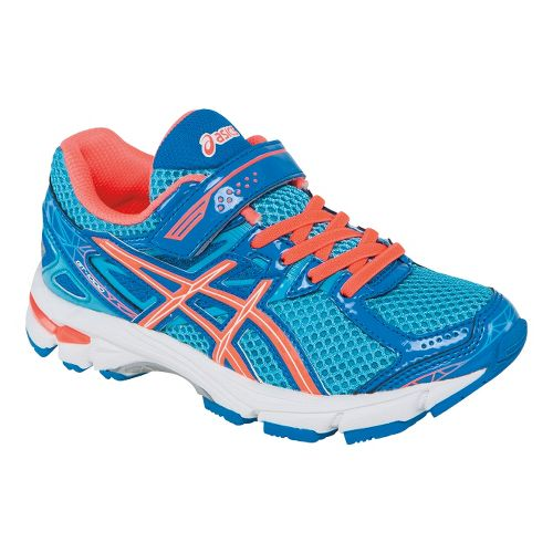 Kids ASICS GT-1000 3 Running Shoe - Turquoise/Hot Coral 2.5Y