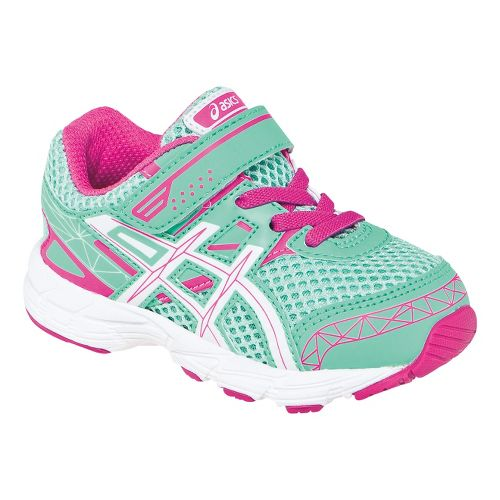 Kids ASICS GT-1000 3 TS Running Shoe - Mint/White 5