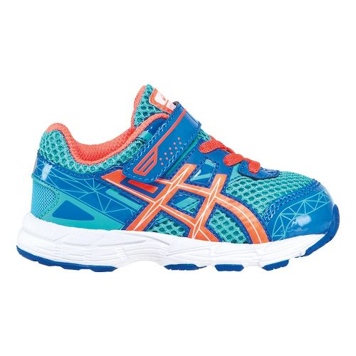 Kids ASICS GT-1000 3 TS Running Shoe - Turquoise/Hot Coral 9