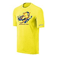 Mens ASICS Tilted Spiral Tee Short Sleeve Technical Tops