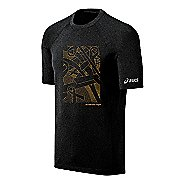 Mens ASICS Floating Ribbons Tee Short Sleeve Technical Tops