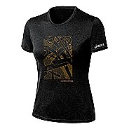 Womens ASICS Floating Ribbons Tee Short Sleeve Technical Tops