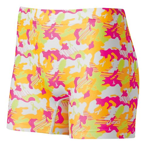 Womens ASICS PR Runbrief Boy Short Underwear Bottoms - Flash Yellow M/L