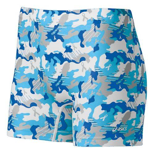 Womens ASICS PR Runbrief Boy Short Underwear Bottoms - Natural Blue Collage M/L