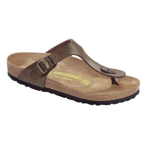Womens Birkenstock Gizeh Sandals Shoe - Golden Brown Birko-Flor 36
