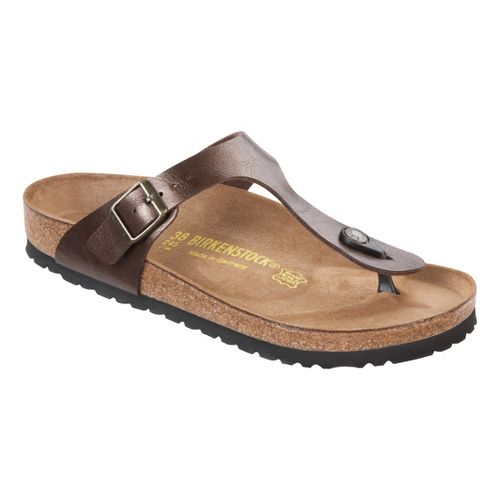 Womens Birkenstock Gizeh Sandals Shoe - Toffee Birko-Flor 37