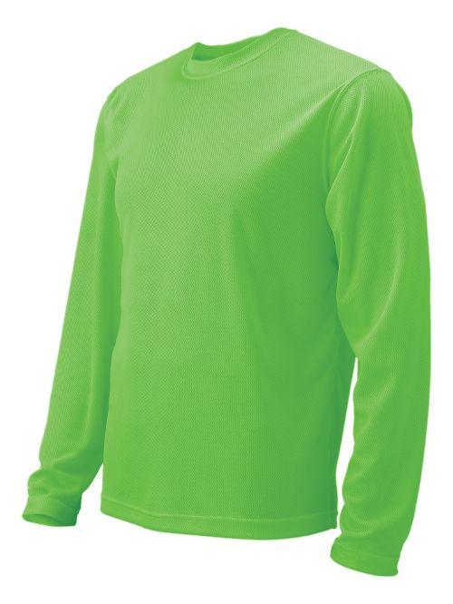 Mens Brooks Podium Long Sleeve No Zip Technical Tops - Bali Green M