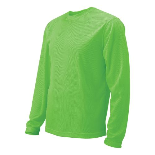 Mens Brooks Podium Long Sleeve No Zip Technical Tops - Bali Green M