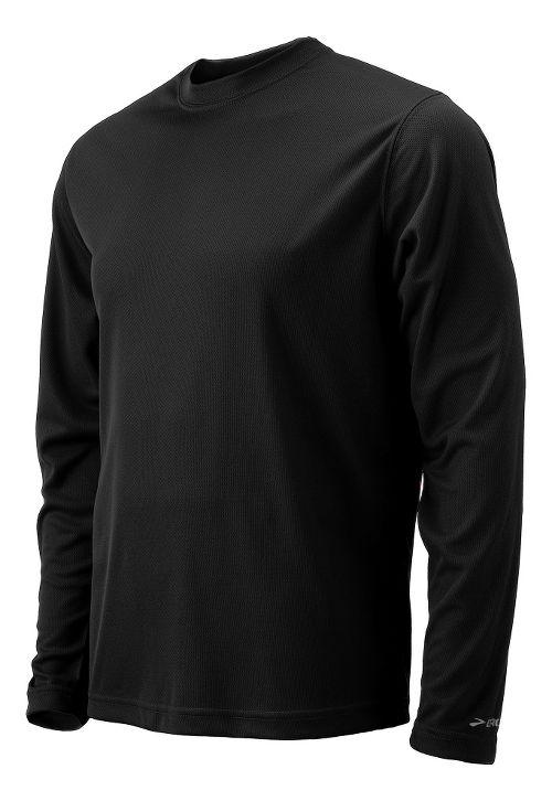 Mens Brooks Podium Long Sleeve No Zip Technical Tops - Black XL