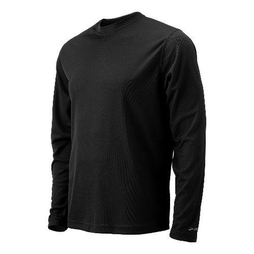 Mens Brooks Podium Long Sleeve No Zip Technical Tops - Black L