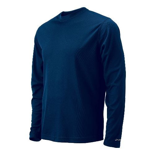 Mens Brooks Podium Long Sleeve No Zip Technical Tops - Navy XL