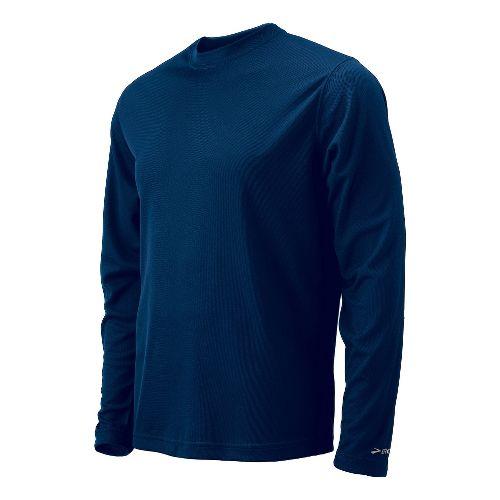 Mens Brooks Podium Long Sleeve No Zip Technical Tops - Navy XXL