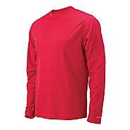 Mens Brooks Podium Long Sleeve No Zip Technical Tops - Red L