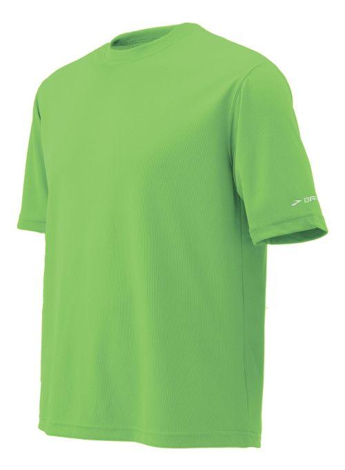 Mens Brooks Podium Short Sleeve Technical Tops - Bali Green L