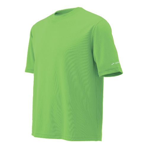 Mens Brooks Podium Short Sleeve Technical Tops - Bali Green XL