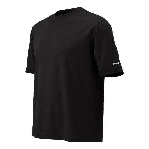 Mens Brooks Podium Short Sleeve Technical Tops - Black S