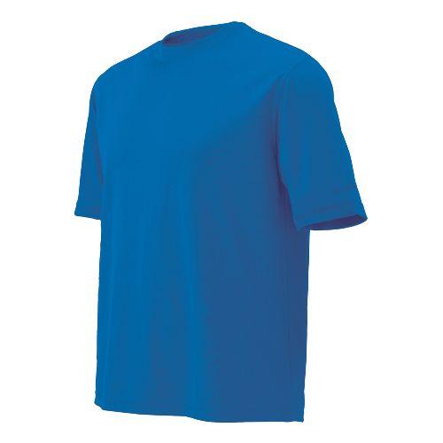 Mens Brooks Podium Short Sleeve Technical Tops - Brooks Blue S