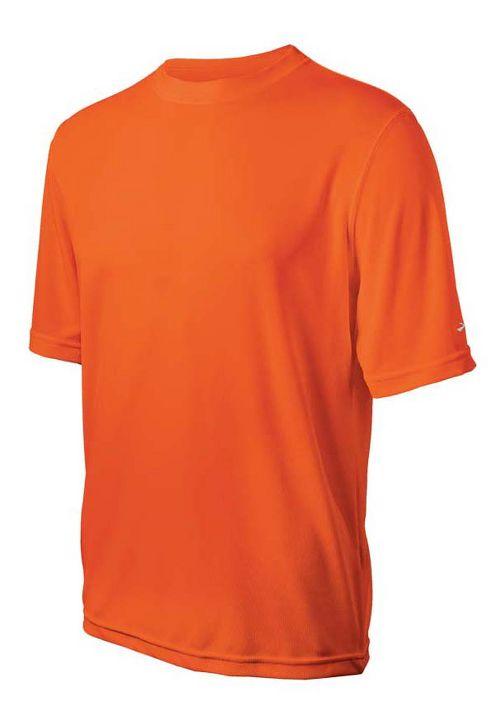 Mens Brooks Podium Short Sleeve Technical Tops - Brite Orange XXL