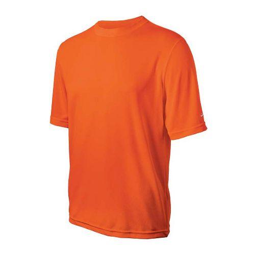 Mens Brooks Podium Short Sleeve Technical Tops - Brite Orange XL