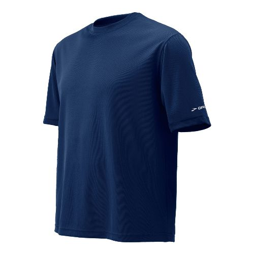 Mens Brooks Podium Short Sleeve Technical Tops - Navy L
