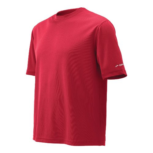Mens Brooks Podium Short Sleeve Technical Tops - Red S