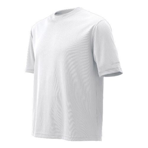 Mens Brooks Podium Short Sleeve Technical Tops - White XS
