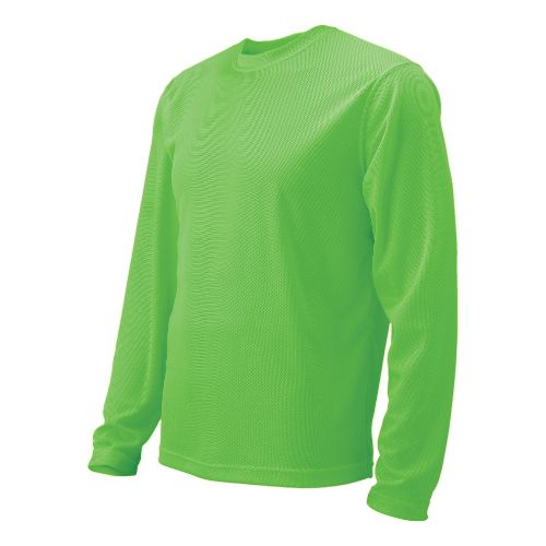 Womens Brooks Podium Long Sleeve No Zip Technical Tops - Bali Green L