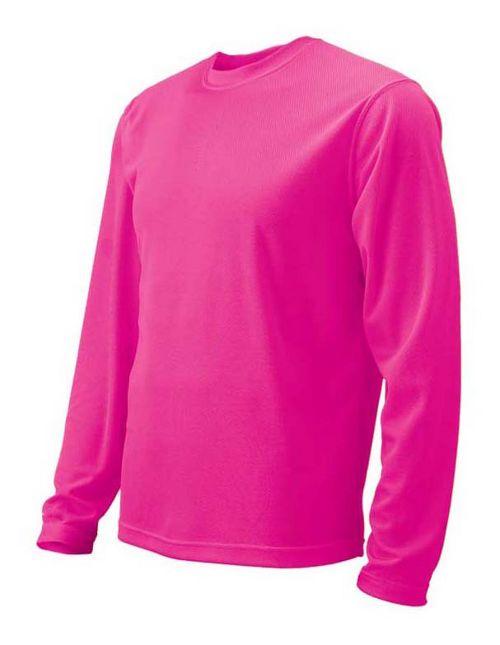 Womens Brooks Podium Long Sleeve No Zip Technical Tops - Brite Pink L