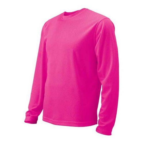 Womens Brooks Podium Long Sleeve No Zip Technical Tops - Brite Pink S