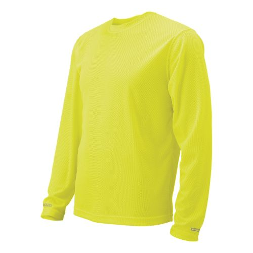Womens Brooks Podium Long Sleeve No Zip Technical Tops - Nightlife XS