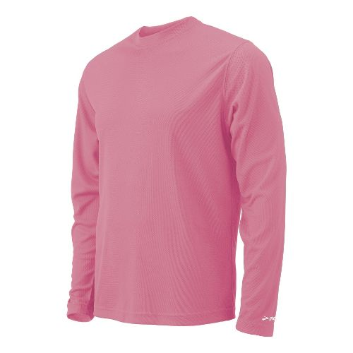 Womens Brooks Podium Long Sleeve No Zip Technical Tops - Pink S