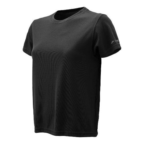Womens Brooks Podium Short Sleeve Technical Tops - Black M