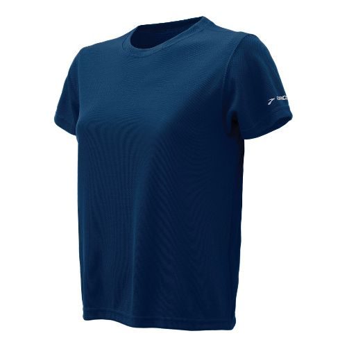 Womens Brooks Podium Short Sleeve Technical Tops - Navy S