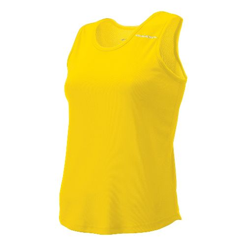 Womens Brooks Distance Singlets Technical Top - Yellow M