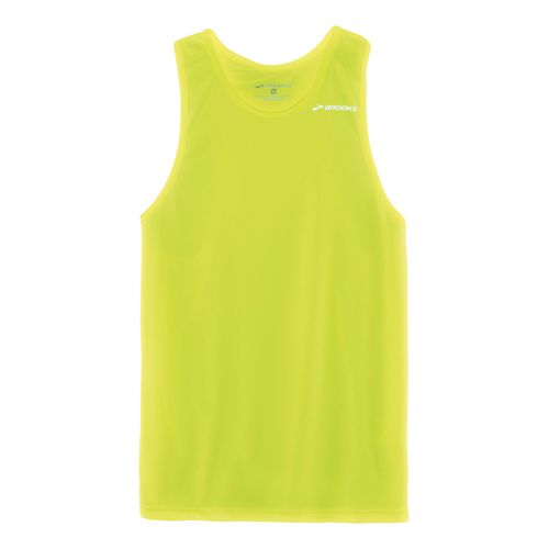 Mens Brooks Distance Singlets Technical Top - Nightlife XXL