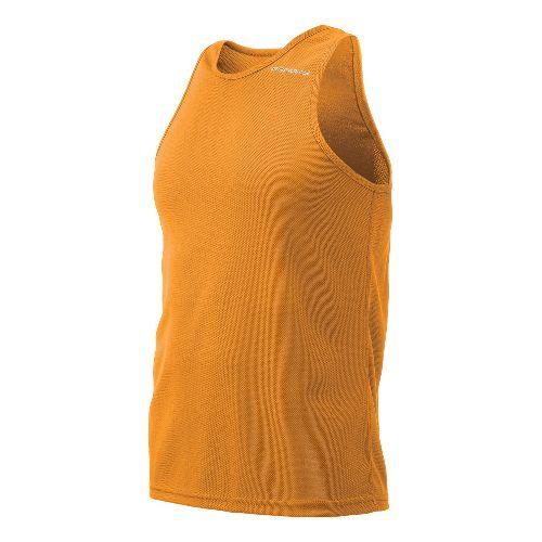 Mens Brooks Distance Singlets Technical Top - Orange S