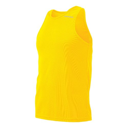 Mens Brooks Distance Singlets Technical Top - Yellow M