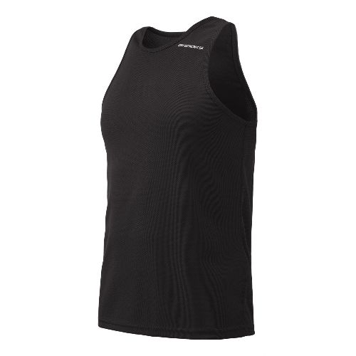 Mens Brooks Distance Singlets Technical Top - Brite Green M